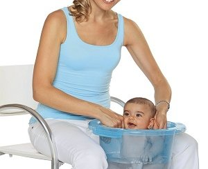 Badeeimer oder Babybadewanne